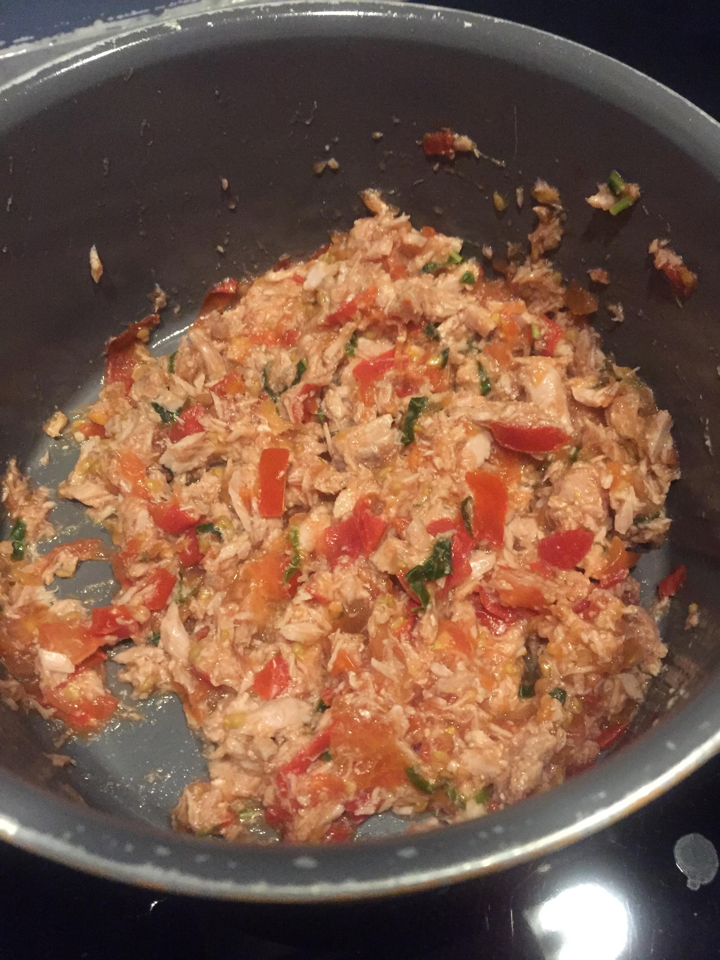 tomates basilic thon