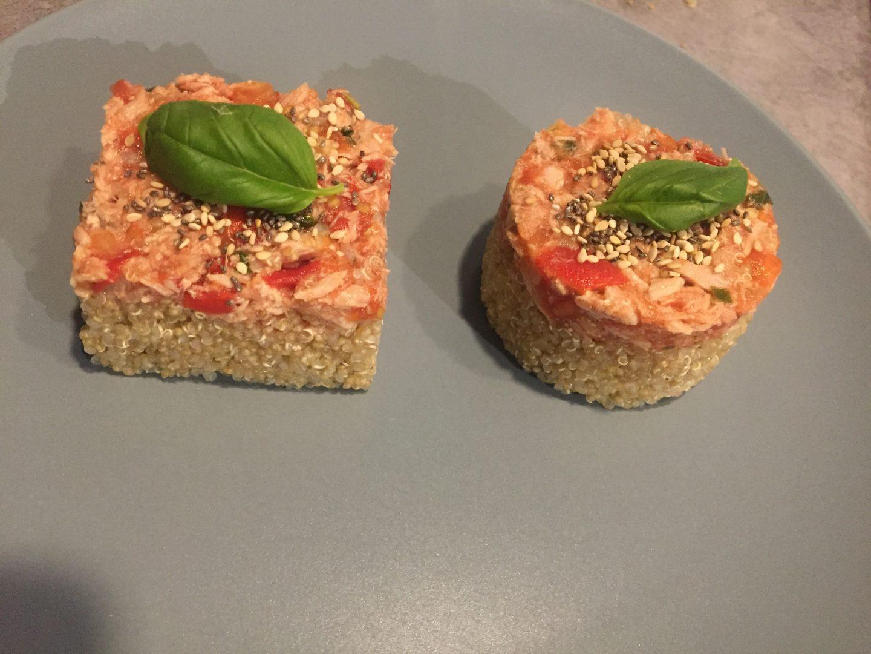 Quinoa thon tomates