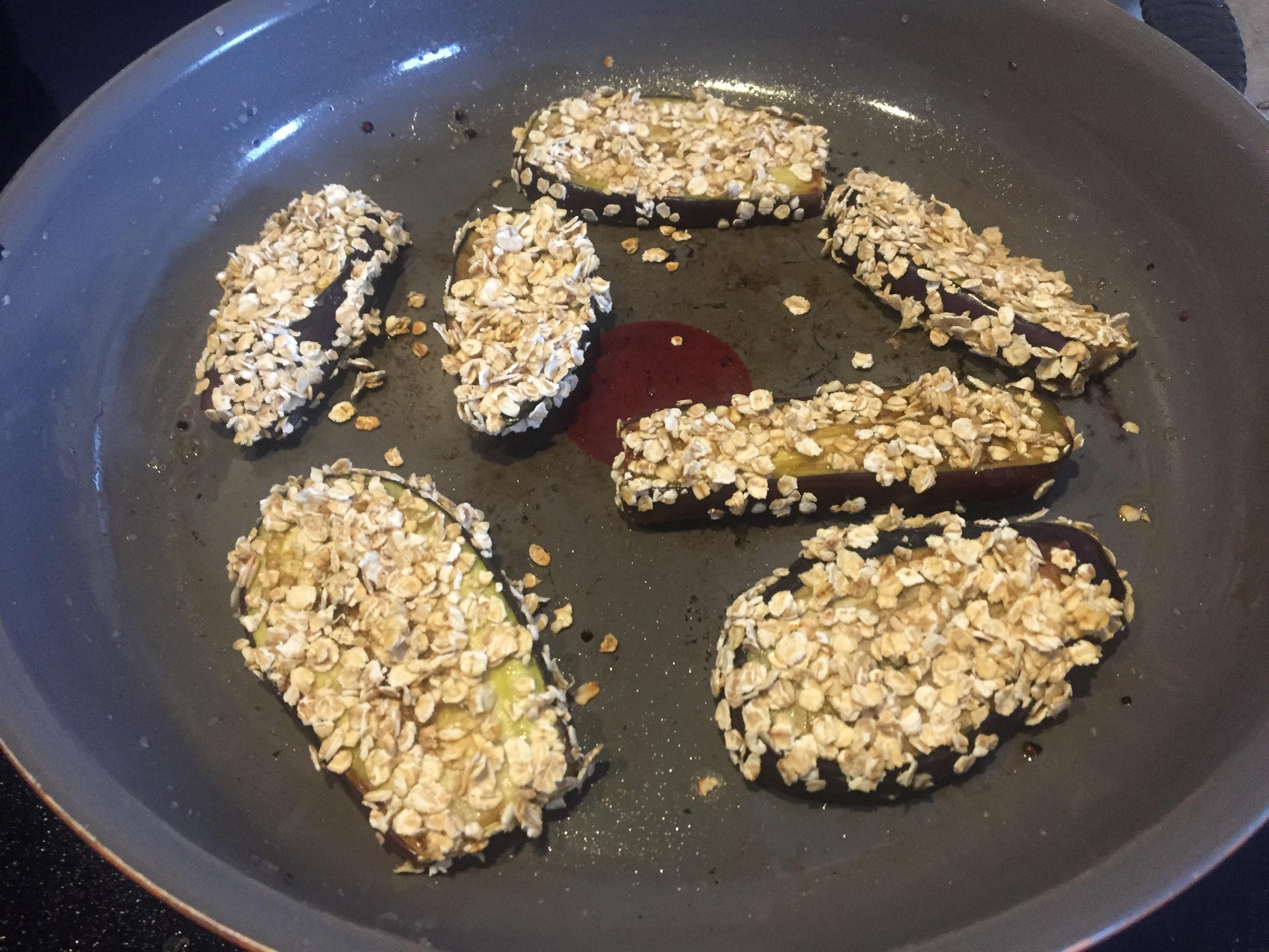 Gratin d'aubergines healthy aux flocons d'avoine