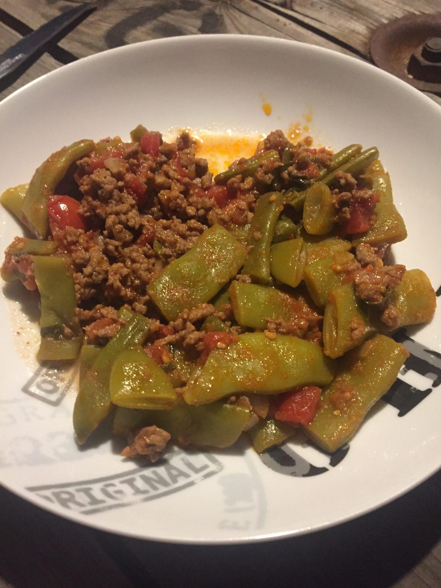 Haricots plats la bolognaise fitwondermum - Cuisiner les haricots plats ...