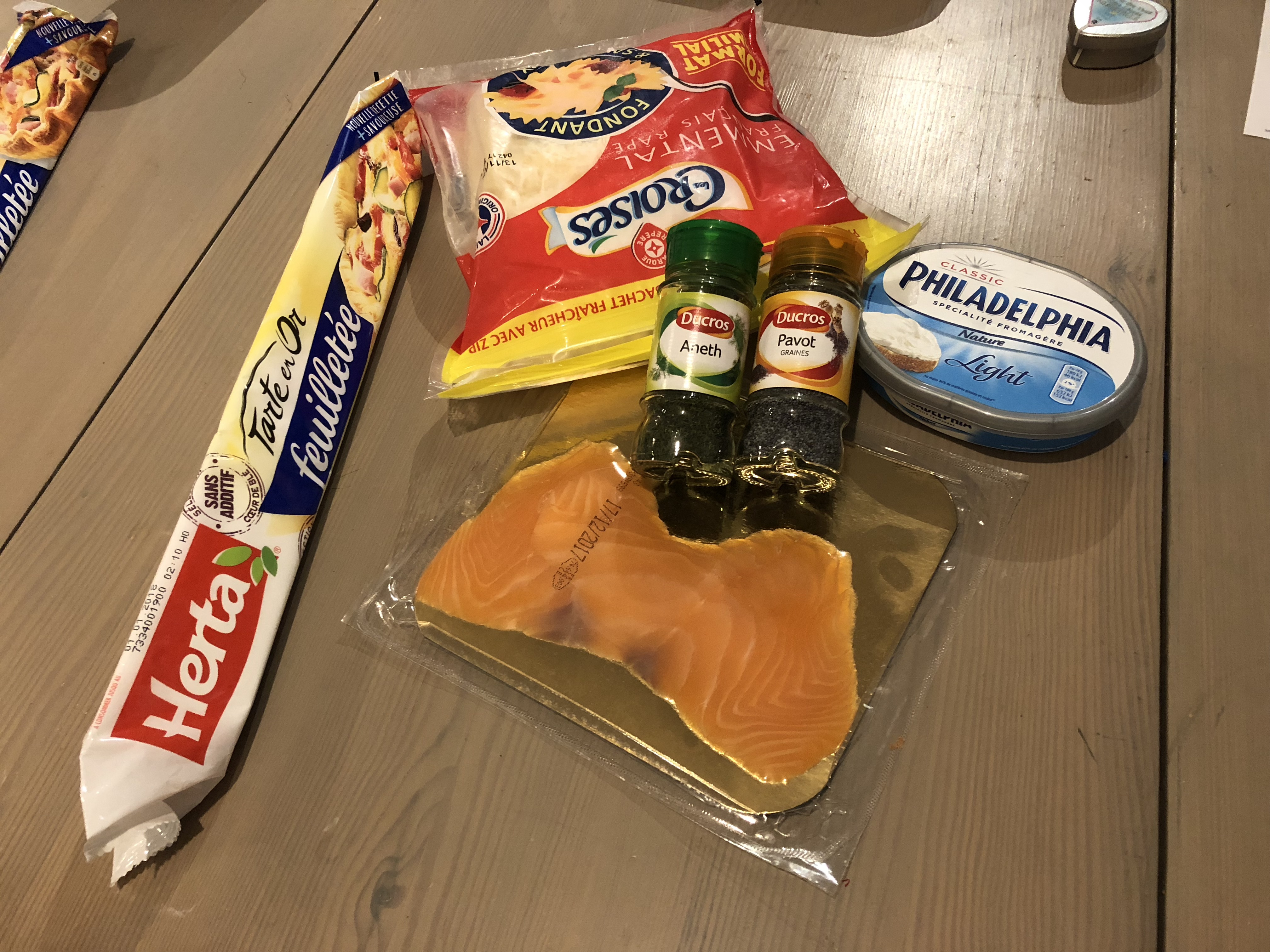 Croissants saumon aneth pavot
